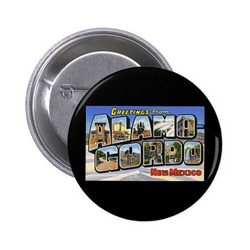 Greetings from Alamo Gordo New Mexico Button