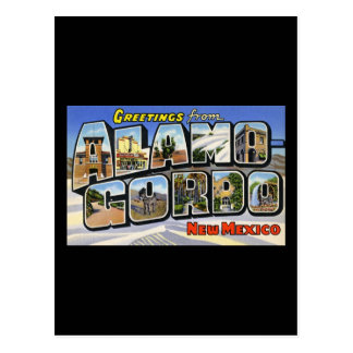 Greetings from Alamo Gordo New Mexico Postcard