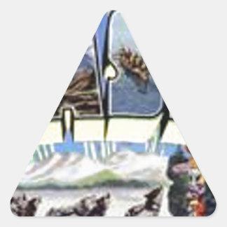 Greetings From Alaska Triangle Sticker