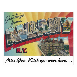 Greetings from Albany, New York Postcard
