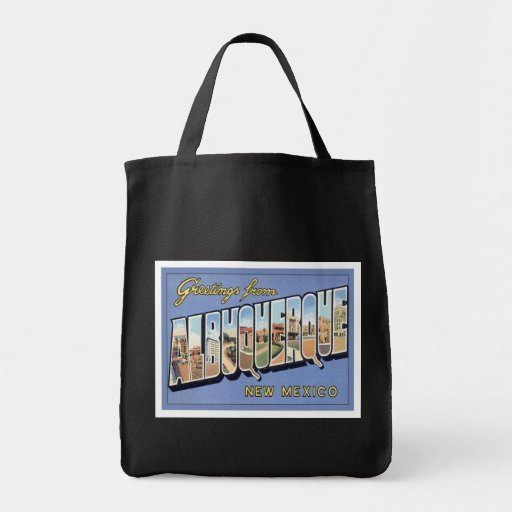 Greetings From Albuquerque, New Mexico Tote Bags