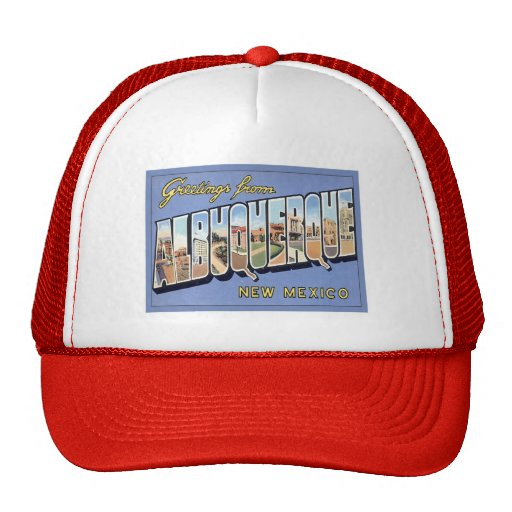 Greetings From Albuquerque, New Mexico Mesh Hat