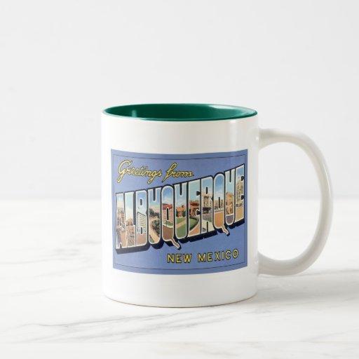 Greetings From Albuquerque, New Mexico Coffee Mug
