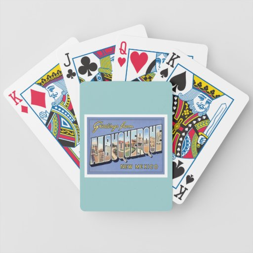 Greetings From Albuquerque, New Mexico Bicycle Poker Cards