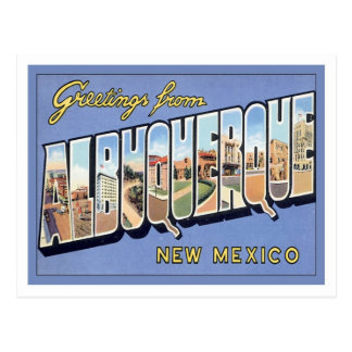 Greetings From Albuquerque, New Mexico Post Cards