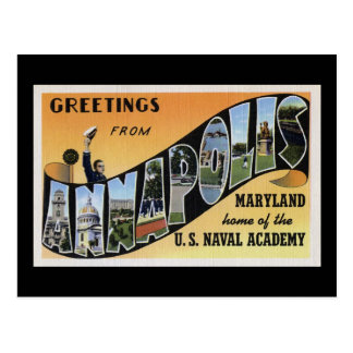 Greetings from Annapolis Maryland Postcard