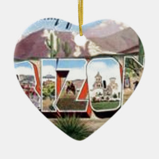 Greetings from Arizona Ceramic Ornament