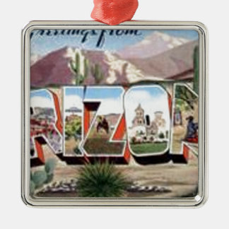 Greetings from Arizona Metal Ornament