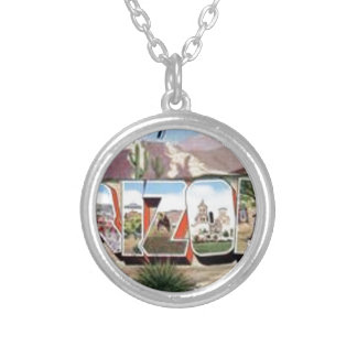 Greetings from Arizona Silver Plated Necklace