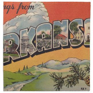 Greetings from Arkansas Napkin