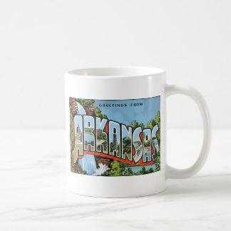 Greetings From Arkansas, Vintage Mug