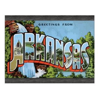 Greetings From Arkansas, Vintage Postcard