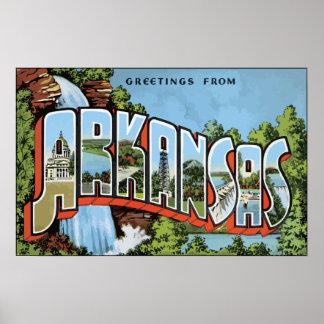 Greetings From Arkansas, Vintage Poster