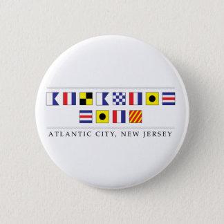Greetings from Atlantic City 6 Cm Round Badge