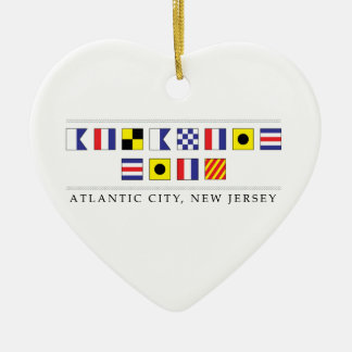 Greetings from Atlantic City Ceramic Heart Decoration