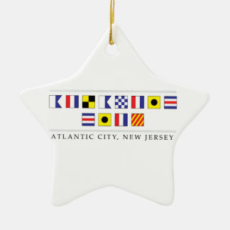 Greetings from Atlantic City Ceramic Star Decoration