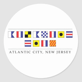 Greetings from Atlantic City Round Sticker