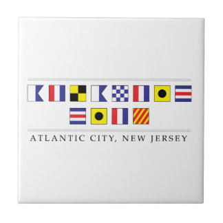 Greetings from Atlantic City Small Square Tile