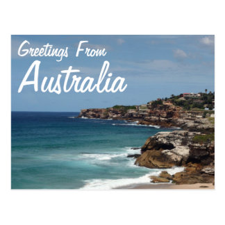 Greetings From Australia Postcard