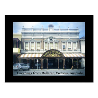 Greetings from Ballarat postcard