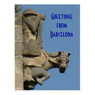 Greetings from Barcelona Postcard