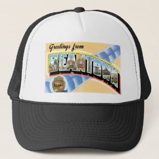 Greetings from Beantown! Vintage Post Card Trucker Hat