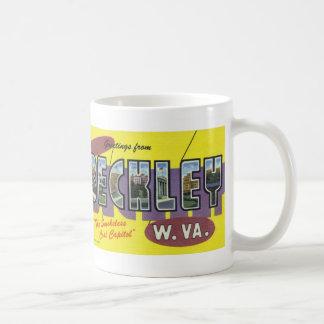 Greetings from Beckley WV Vintage Postcard Mug