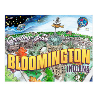 Greetings from Bloomington Indiana (postcard) Postcard