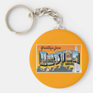 Greetings from Boston! Key Ring