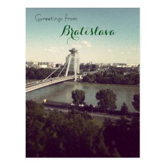 Greetings from Bratislava Postcard