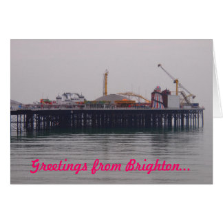 Greetings from Brighton Greetings Card