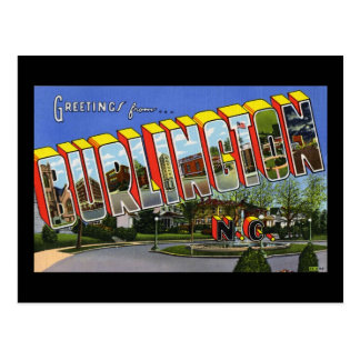 Greetings from Burlington North Carolina Postcard