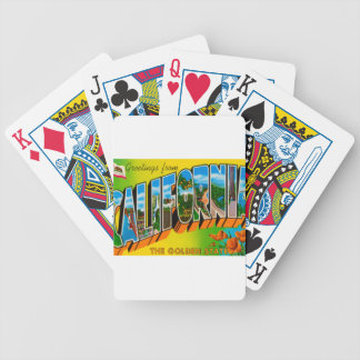 Greetings From California Bicycle Playing Cards