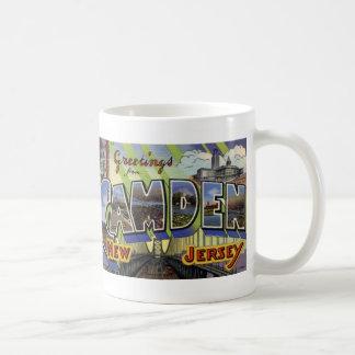 Greetings from Camden, NJ Vintage Postcard Mug