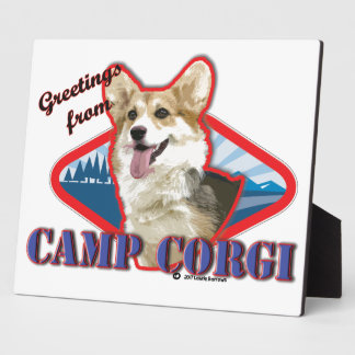 Greetings from CAMP CORGI Plaque