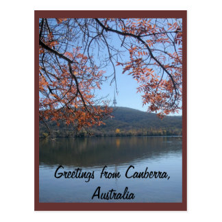 Greetings from Canberra, Australia Postcard