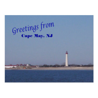Greetings from Cape May Lighthouse Postcard