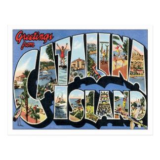 Greetings From Catalina Island California Postcard