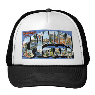 Greetings from Catalina Island, California Retro Cap
