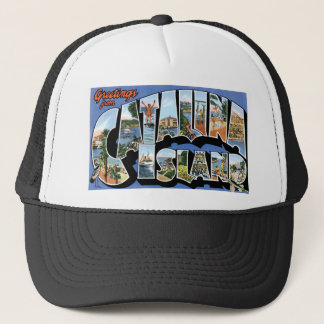 Greetings from Catalina Island, California Retro Trucker Hat