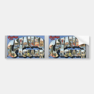 Greetings From Catalina Island, Vintage Bumper Stickers