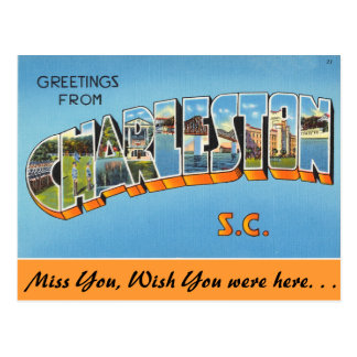 Greetings from Charleston Postcard