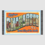 Greetings From Charlotte N.C. , Vintage Rectangle Stickers