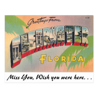 Greetings from Clearwater, Florida Postcard