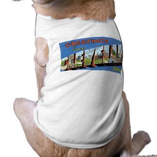 Greetings from Cleveland, Ohio! Sleeveless Dog Shirt
