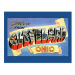 Greetings from Cleveland, Ohio Vintage Post Cards