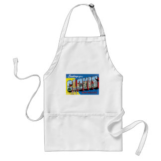 Greetings from Clovis, New Mexico! Adult Apron