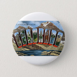 Greetings From Colorado 6 Cm Round Badge
