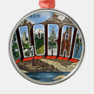Greetings From Colorado Metal Ornament