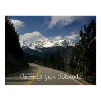 Greetings from Colorado Postcard